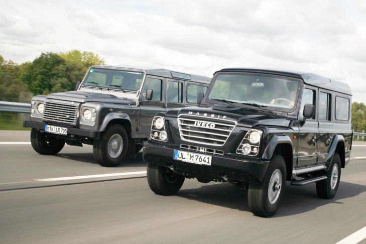 Bilder  Land Rover Defender  Iveco Massiv