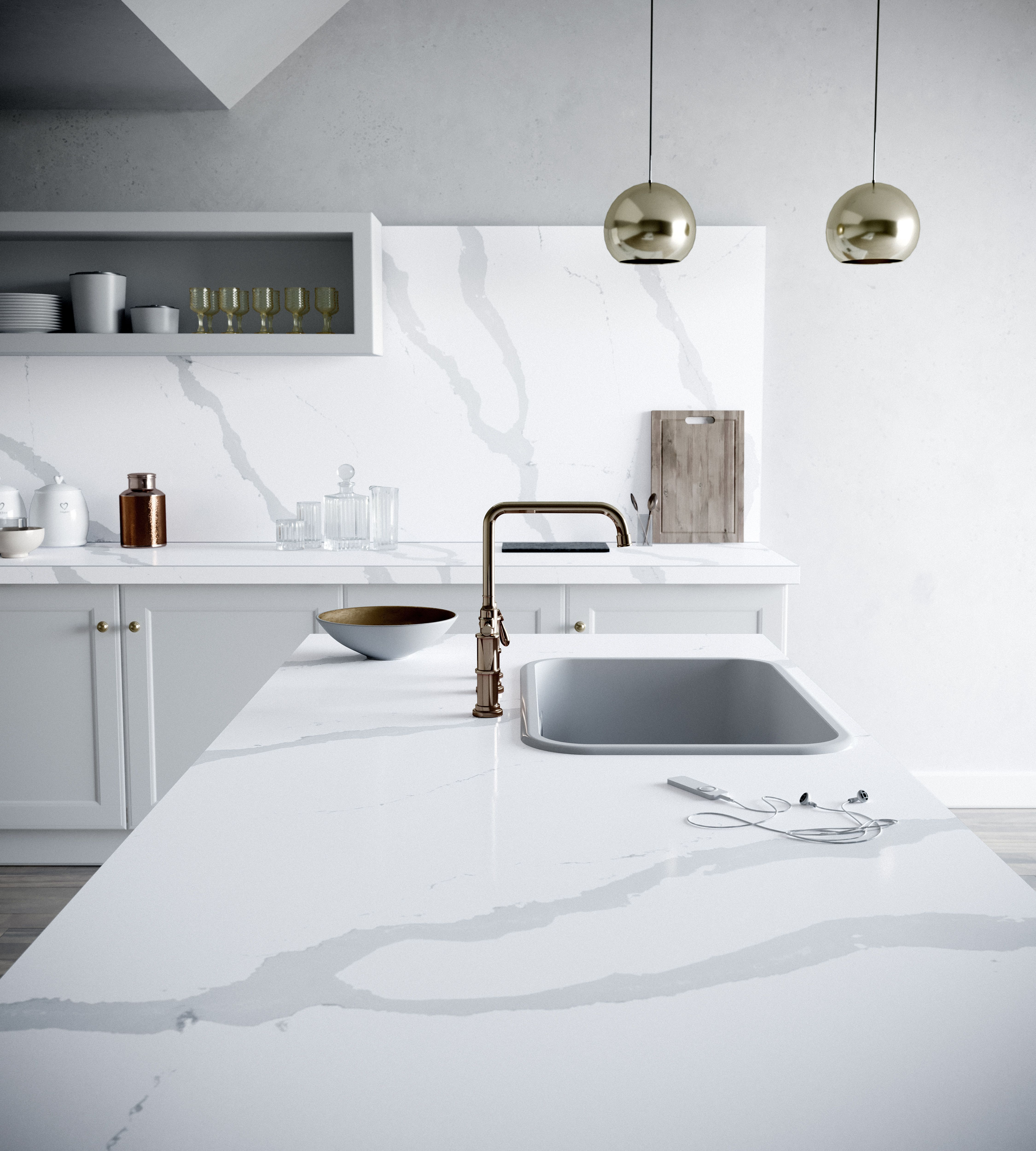 Best Eternal Bianco Calacatta Quartz From Silestone Love 400 x 300