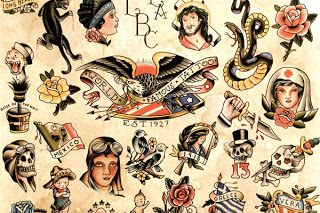 Tattoo Art Styles Vintage Tattoo Flash Art Traditional Tattoo Flash Vintage Tattoo Tattoo Flash Art