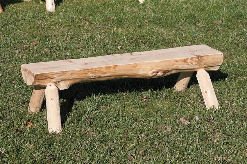Amish Half Log Bench Log Bench Rustic Bench Bench