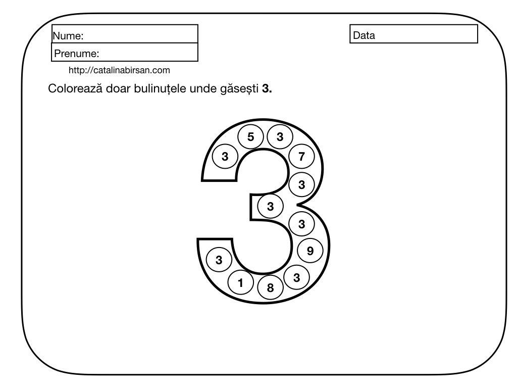 Materiale Pentru Numerele Si Cifrele 1 10 Numara Scrie