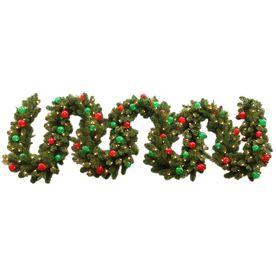 Ge 18 ft pre lit indooroutdoor spruce artificial christmas garland ge pre lit indooroutdoor spruce artificial christmas garland with clear incandescent lights aloadofball Choice Image