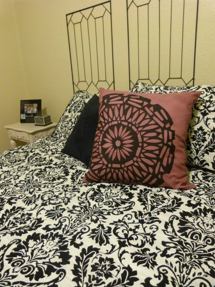 Check-out how we did a quick color change to a throw pillow