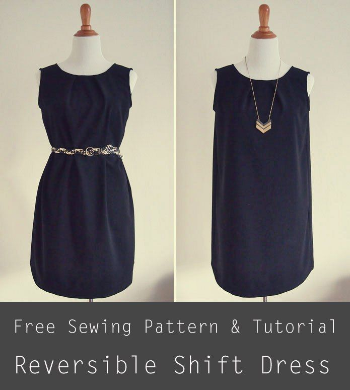 Reversible Shift Dress - https://sewing4free.com/reversible-shift ...
