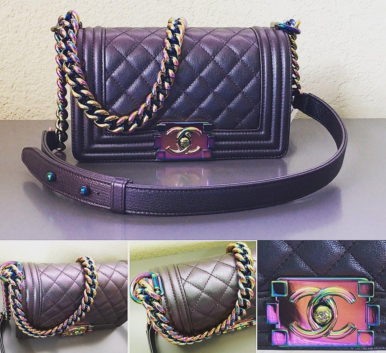 Chanel Handväskor : Chanel iridescent boy bag replica google search