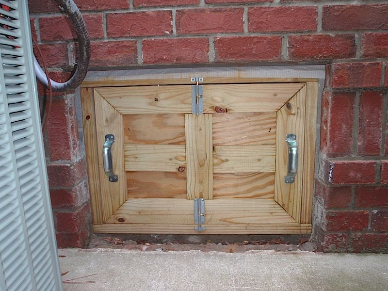 Crawlspace Door Crawl Space Door Crawlspace Diy Crawlspace