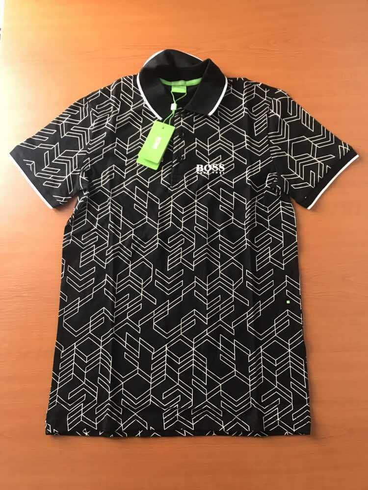 38072a7a9aa2d8 Men Hugo Boss Green Modern Fit Polo T-shirt size XL Color Black #HugoBoss  #PoloShirts
