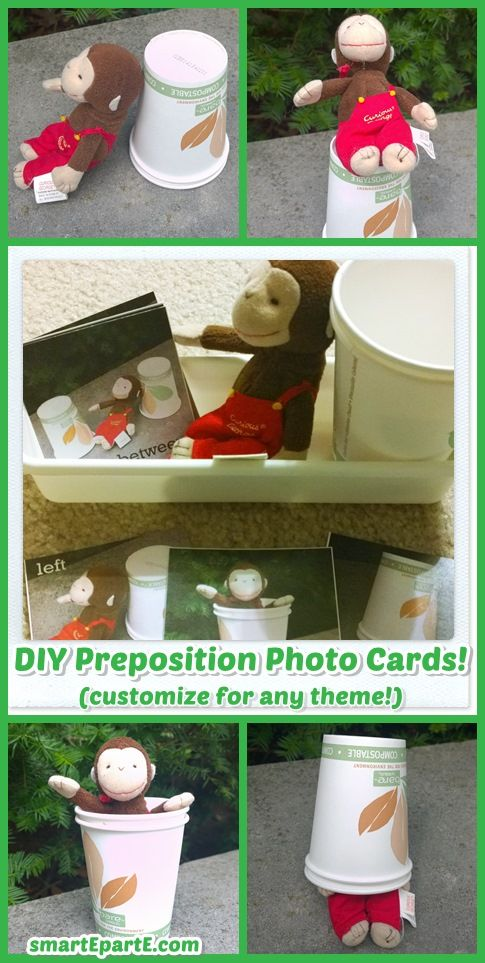 DIY Preposition Position Photo Cards - customizable for any theme!