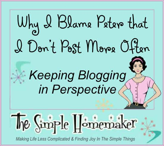 Keeping Blogging in Perspective - A must-read for bloggers...or anyone who struggles with doing it all.
