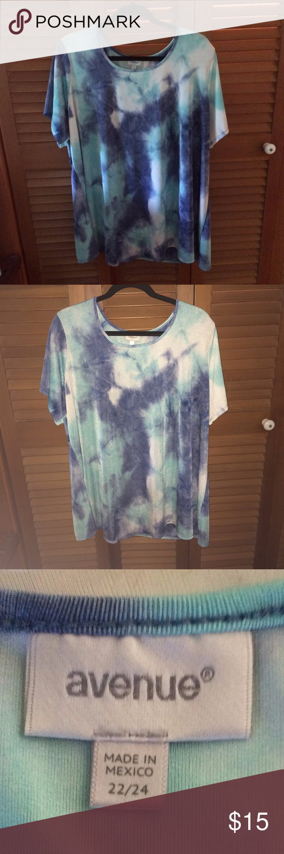 Avenue Summer Tunic Top This Avenue tunic top is a mix of summer blues. A swirl of Pantone 337C and Pantone PMS 2995. I might call the lighter blue Antique Glass and the darker blue Hale Navy (care of Benjamin Moore Paint). This is a tunic length for me, and I am 5'1