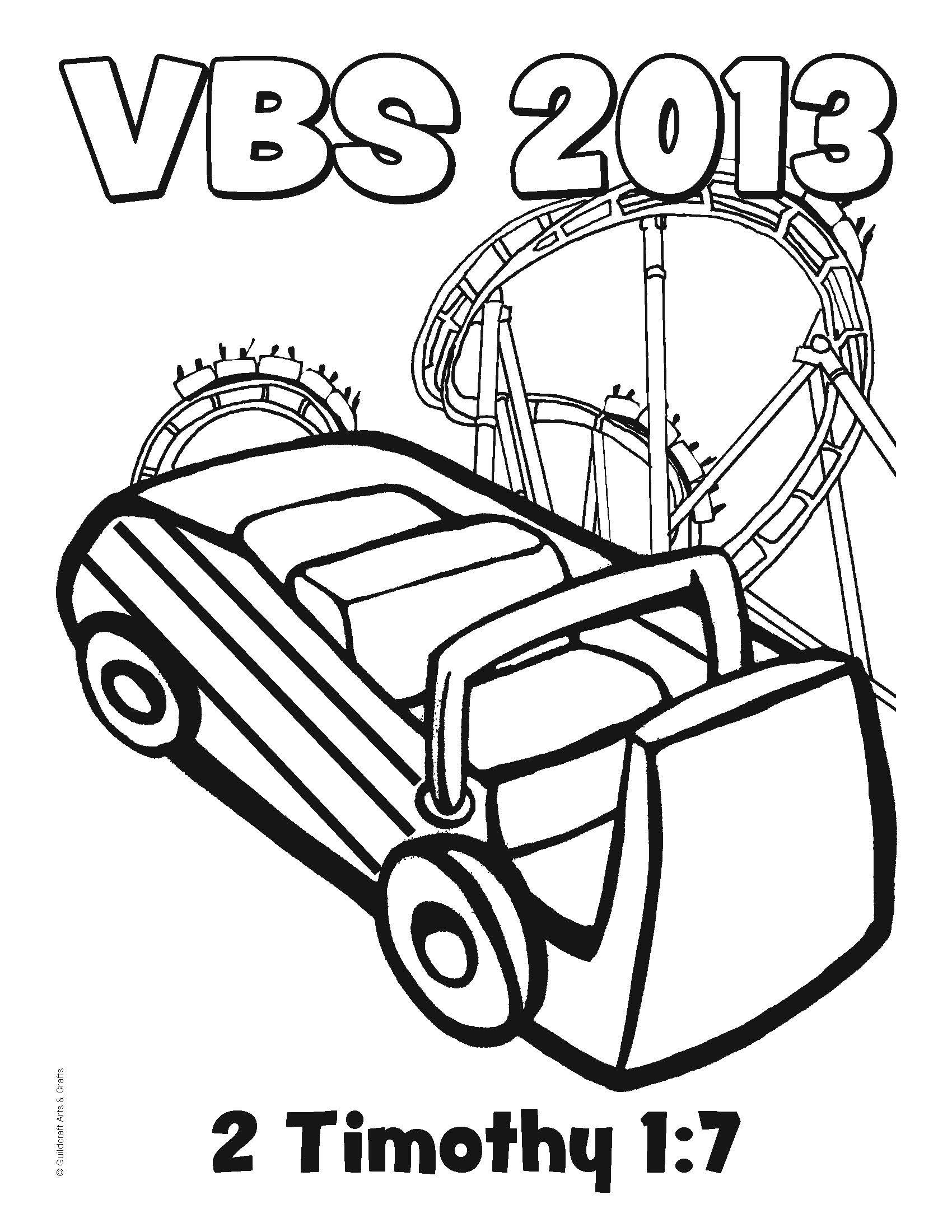 Free Roller Coaster VBS 2013 Coloring Sheet From Guildcraft Arts Crafts