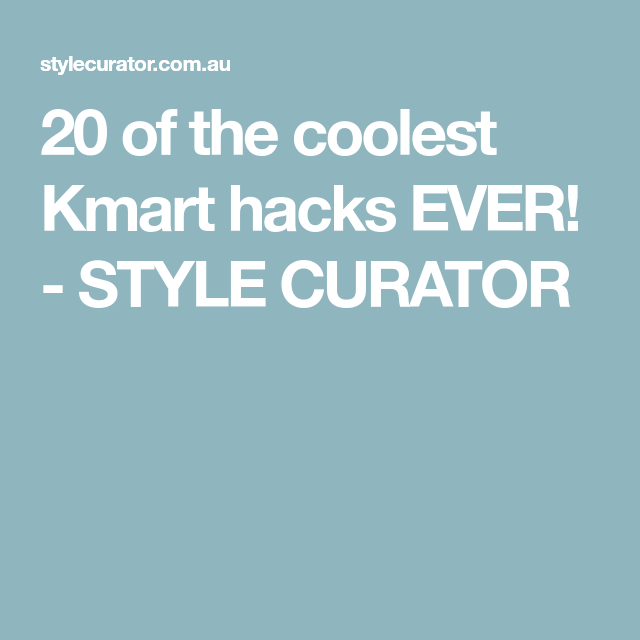 776aeed5cbb 20 of the coolest Kmart hacks EVER! - STYLE CURATOR