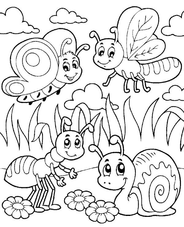 Bugs Coloring Pages Cute Bug Coloring Pages Coloringstar