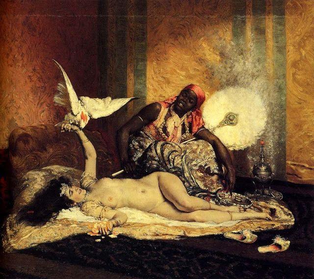 Ferdinand  Roybet (French, 1840-1920)     Odalisque.