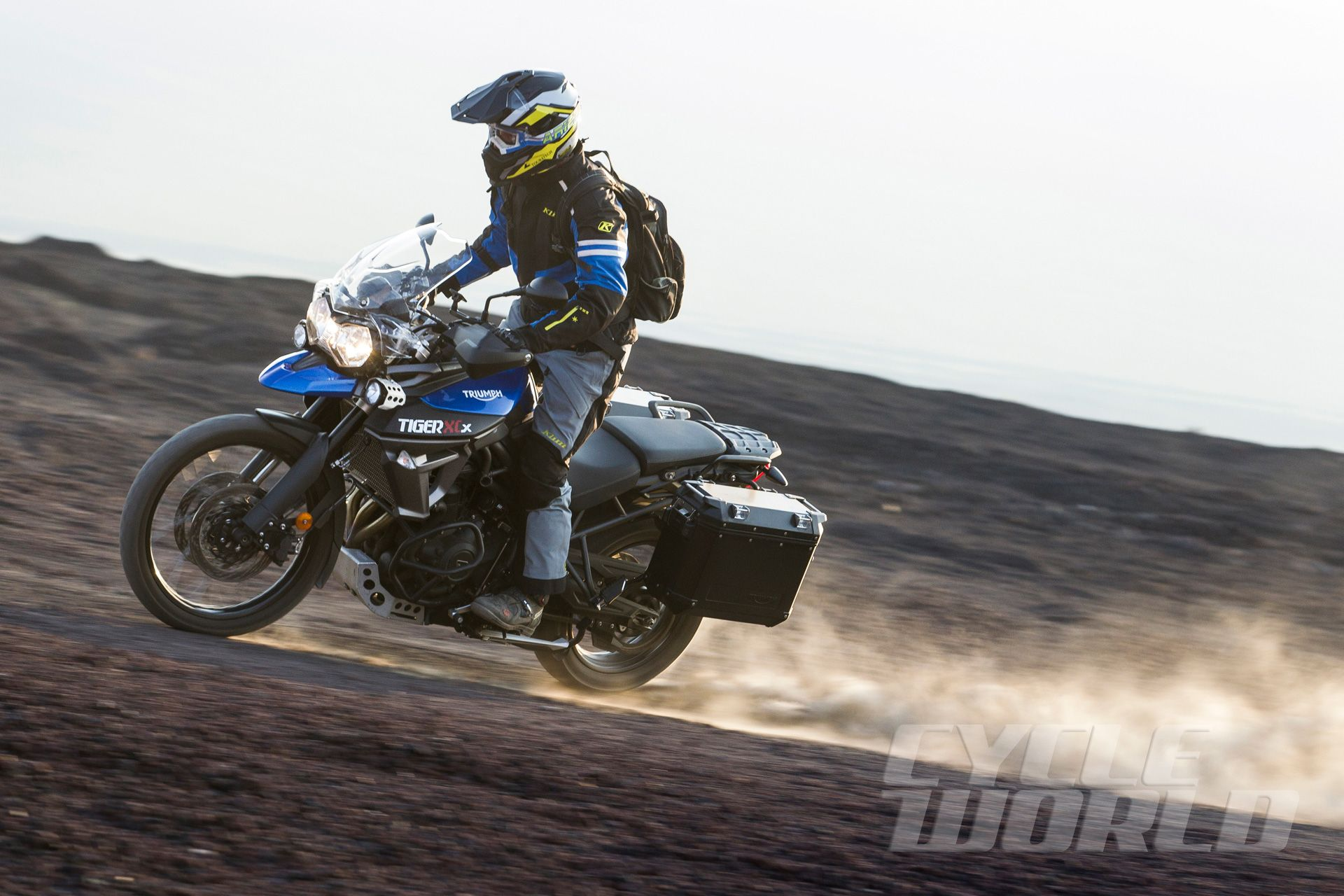 2015 Triumph Tiger 800 XCx action.