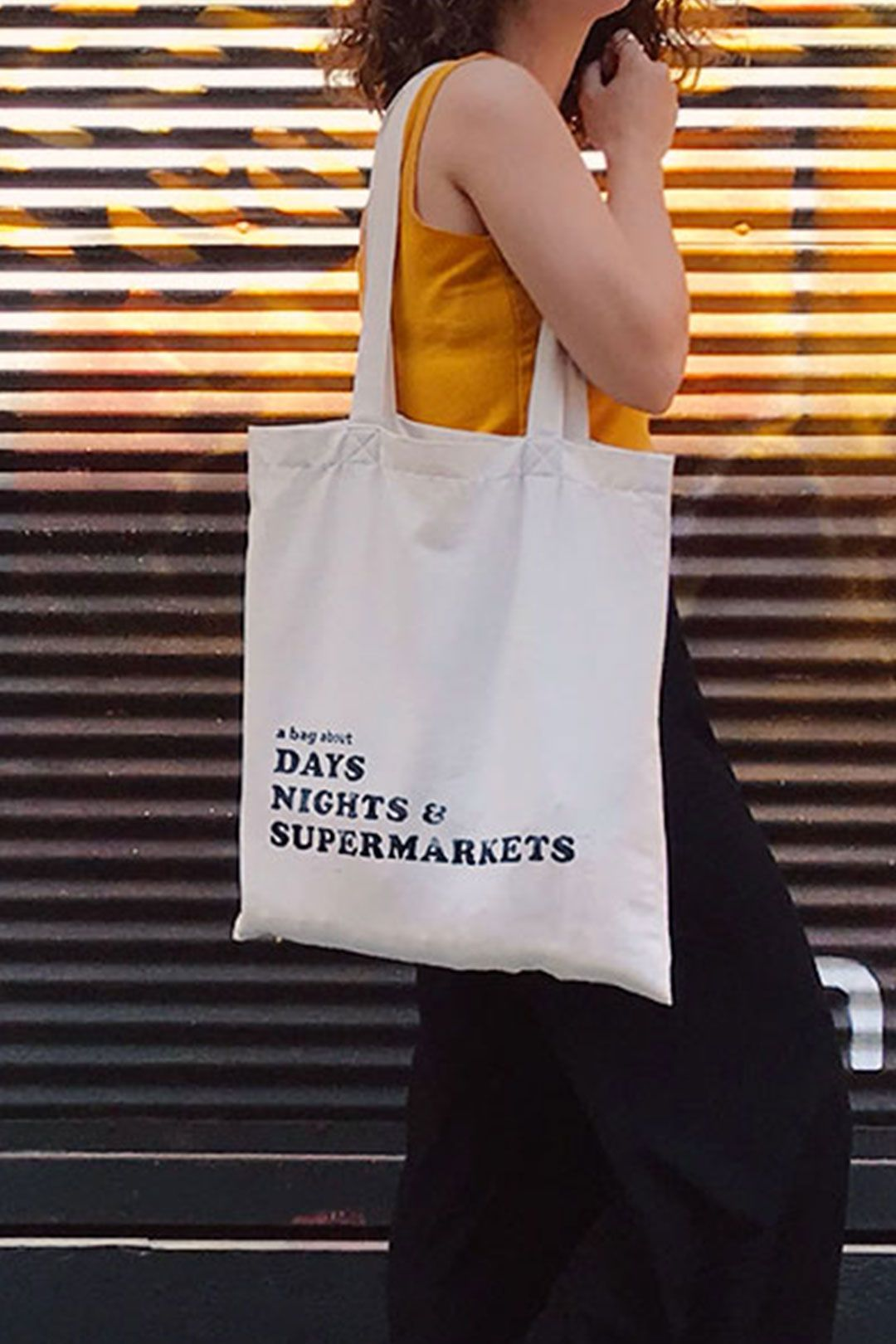 Supermarkets Handmade Canvas Tote Bag with original