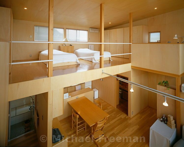 PLYWOOD HOUSE A low-cost house near Tokyo designed by Japanese ...