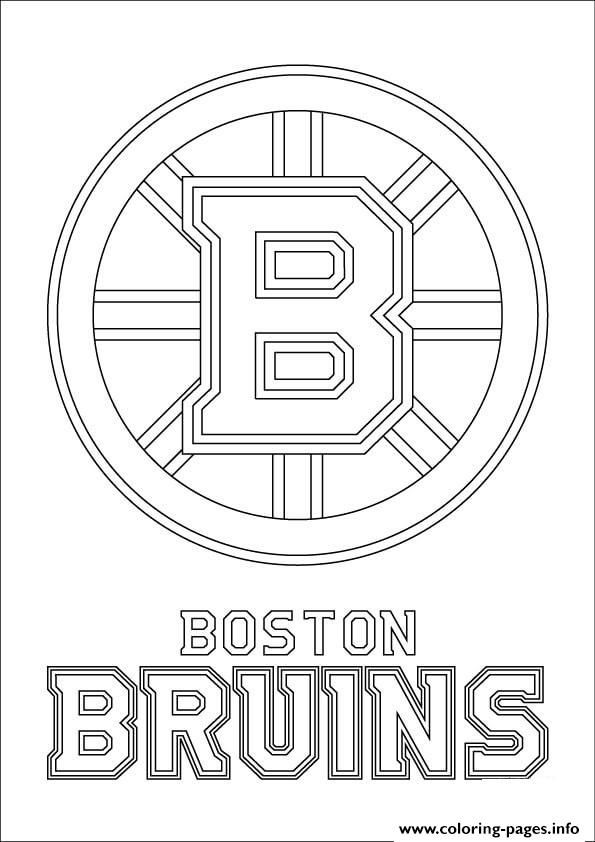 Print Boston Bruins Logo Nhl Hockey Sport Coloring Pages Boston