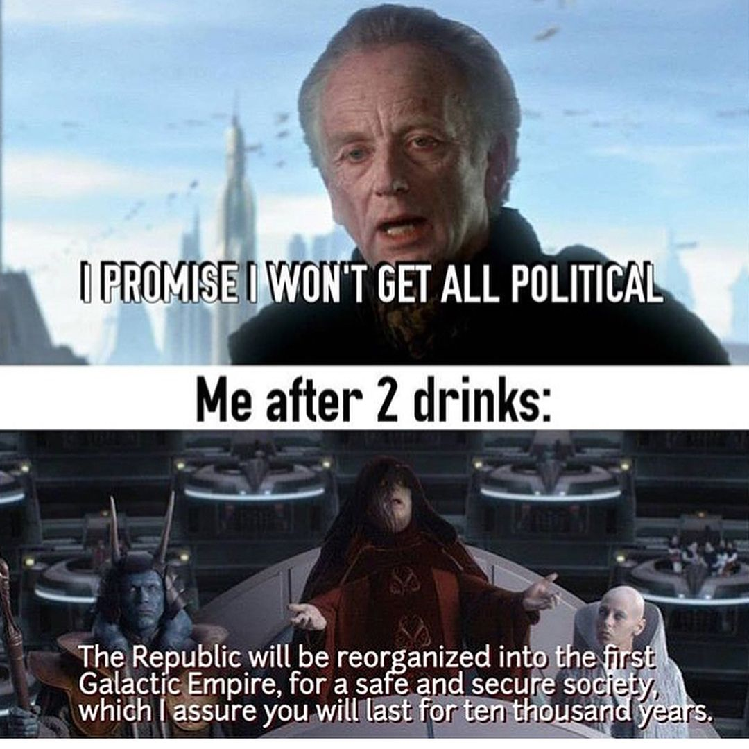 Starwars Starwarsmemes Starwarsmeme Starwarsthelastjedi Palpatine Emperorpalpatine Anakinsky Star Wars Jokes Star Wars Humor Prequel Memes