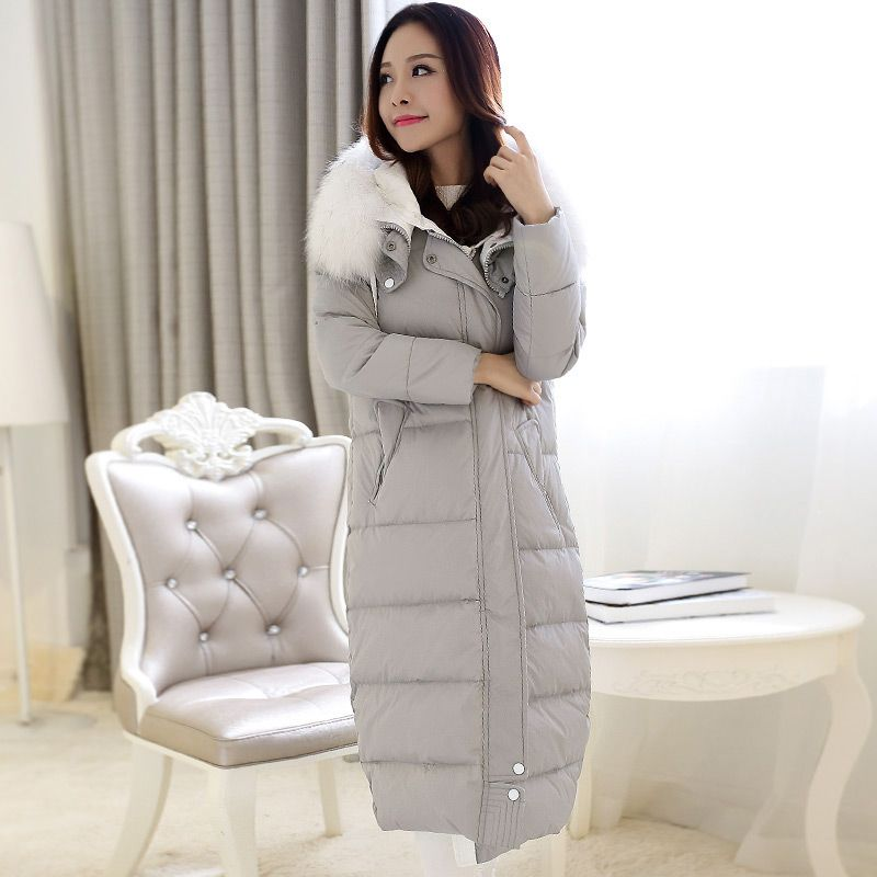 48576a323d7b9 New 2015 Women Fur Hooded Wadded Parkas Fashion Winter Coat Jacket Women  Maxi Long Down Winter Coat H5477