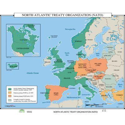 Universal Map World History Wall Maps North Atlantic Treaty Organization Nato History Wall Wall Maps World History