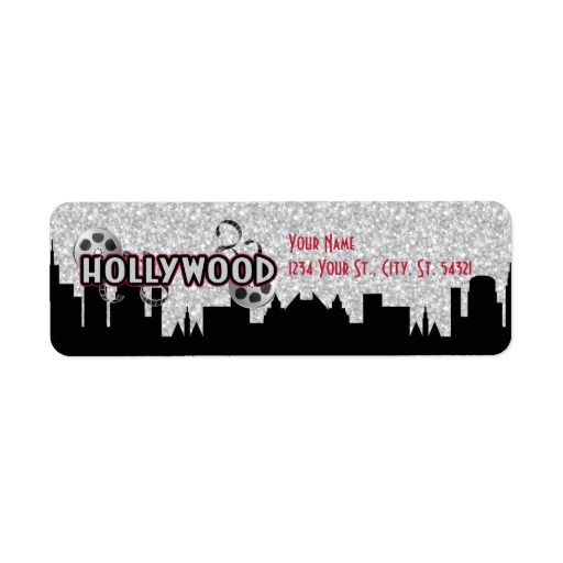 Hollywood Birthday Address Labels