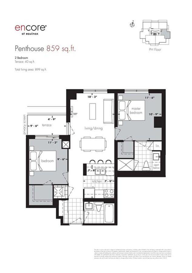 Encore At Equinox Penthouse Plan 859 2br 859sqft Condowiz