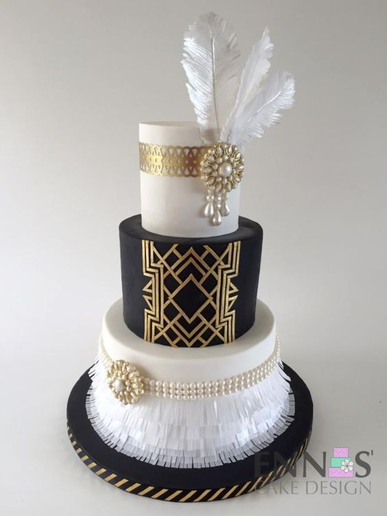 Beautiful Great Gatsby Inspired Cake This Would Be Perfect For A