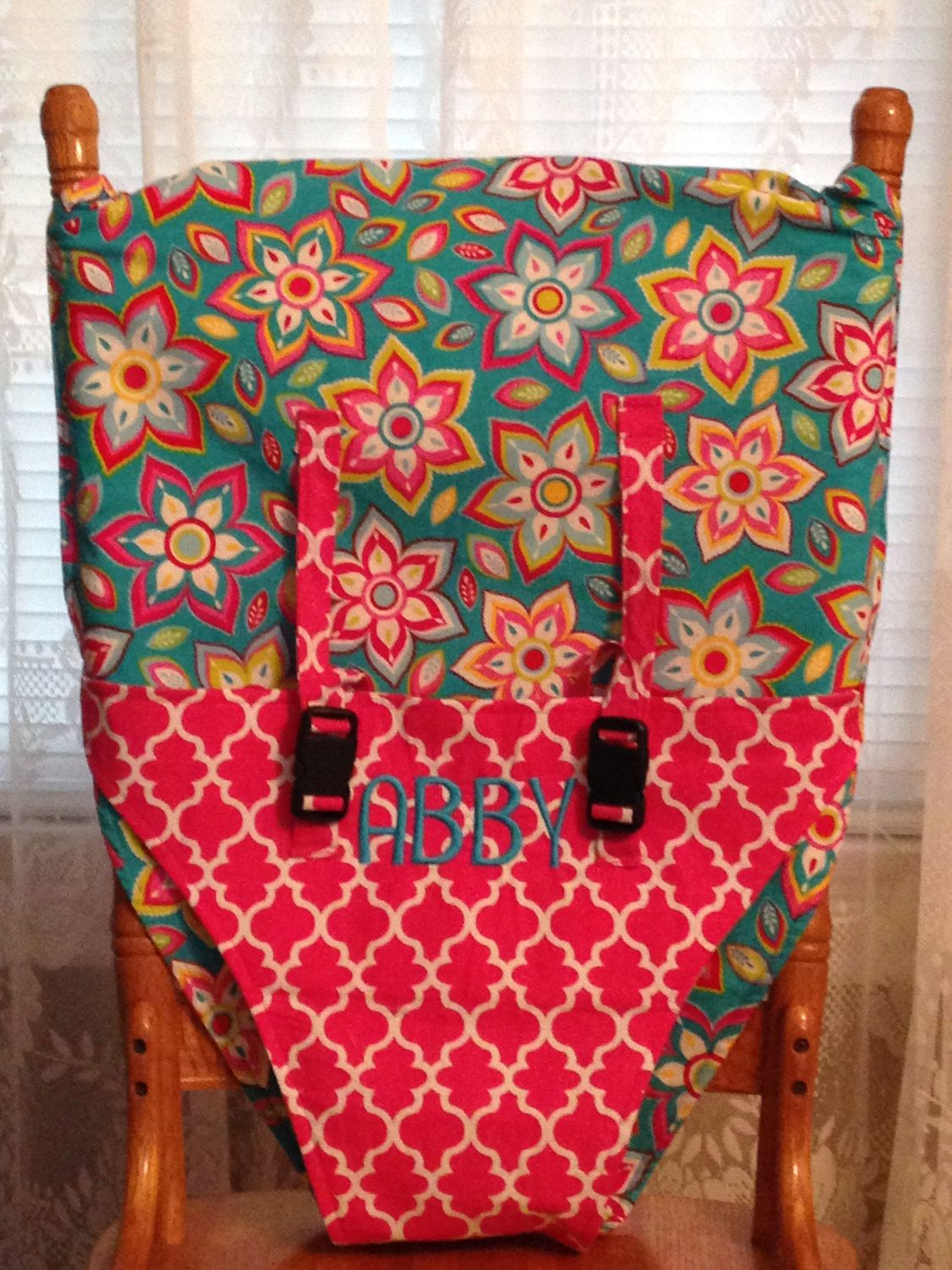 Portable travel high chair, chair sling, or chair cover for your ...