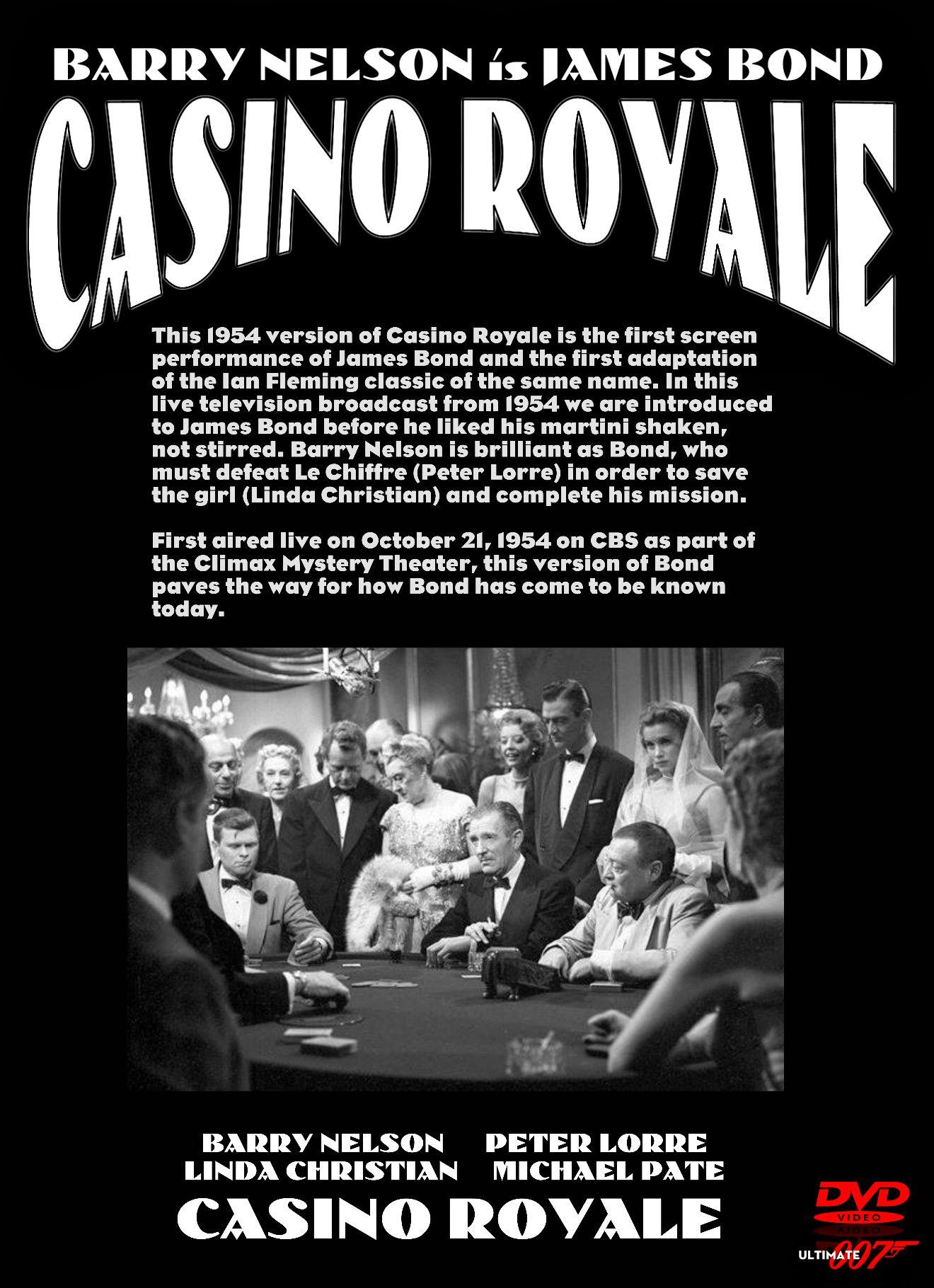 CASINO ROYALE (1954) DVD #IanFleming #007 #JamesBond | JAMES BOND by