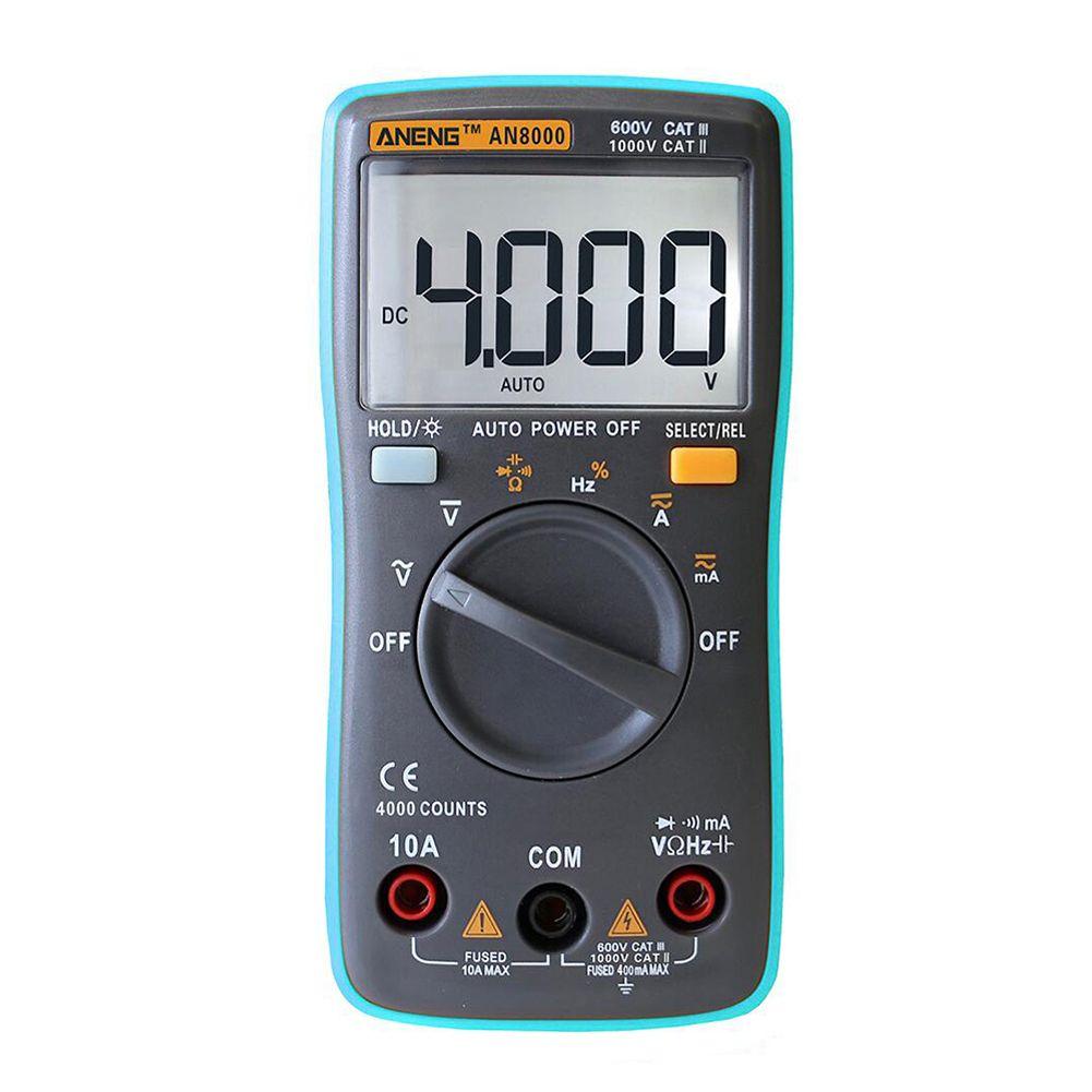 Digital Multimeter AC DC Tester Meter Voltmeter Ohmeter Ohmmeter Blue