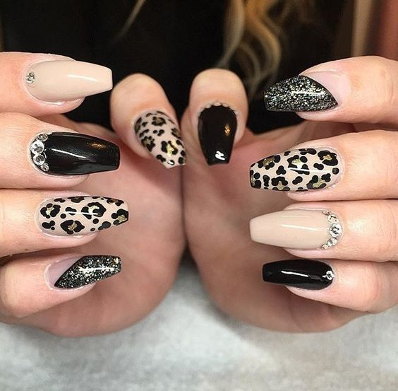 Cute Valentine Nail Art Designs For 2020 Leopard Print Ideas With Images Leopard Print Nails Cheetah Nail Designs Cheetah Print Nails