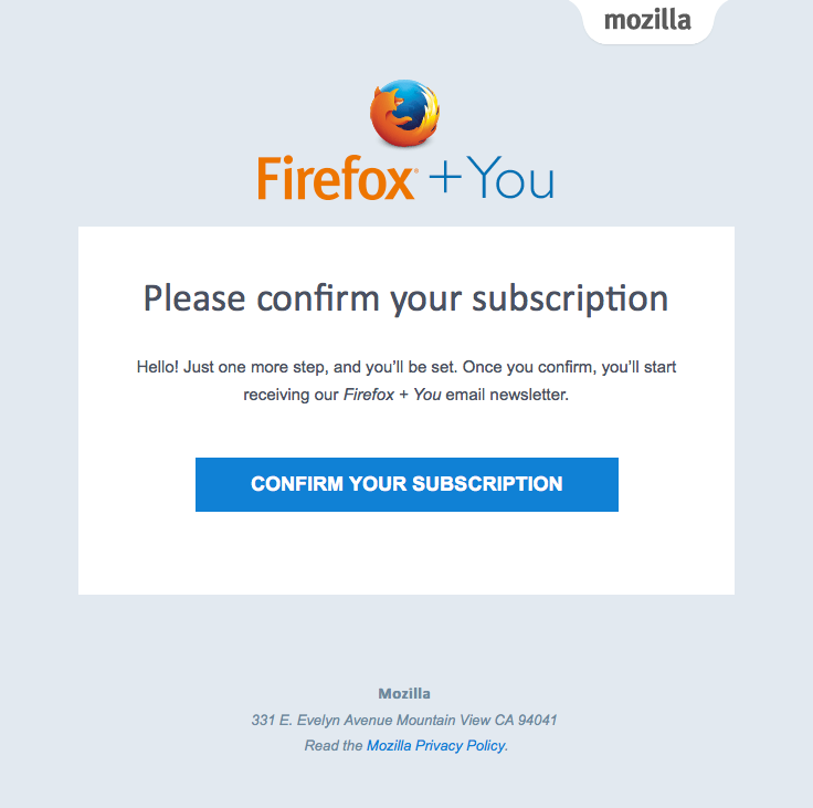 Firefox Sent This Email With The Subject Line Action Required