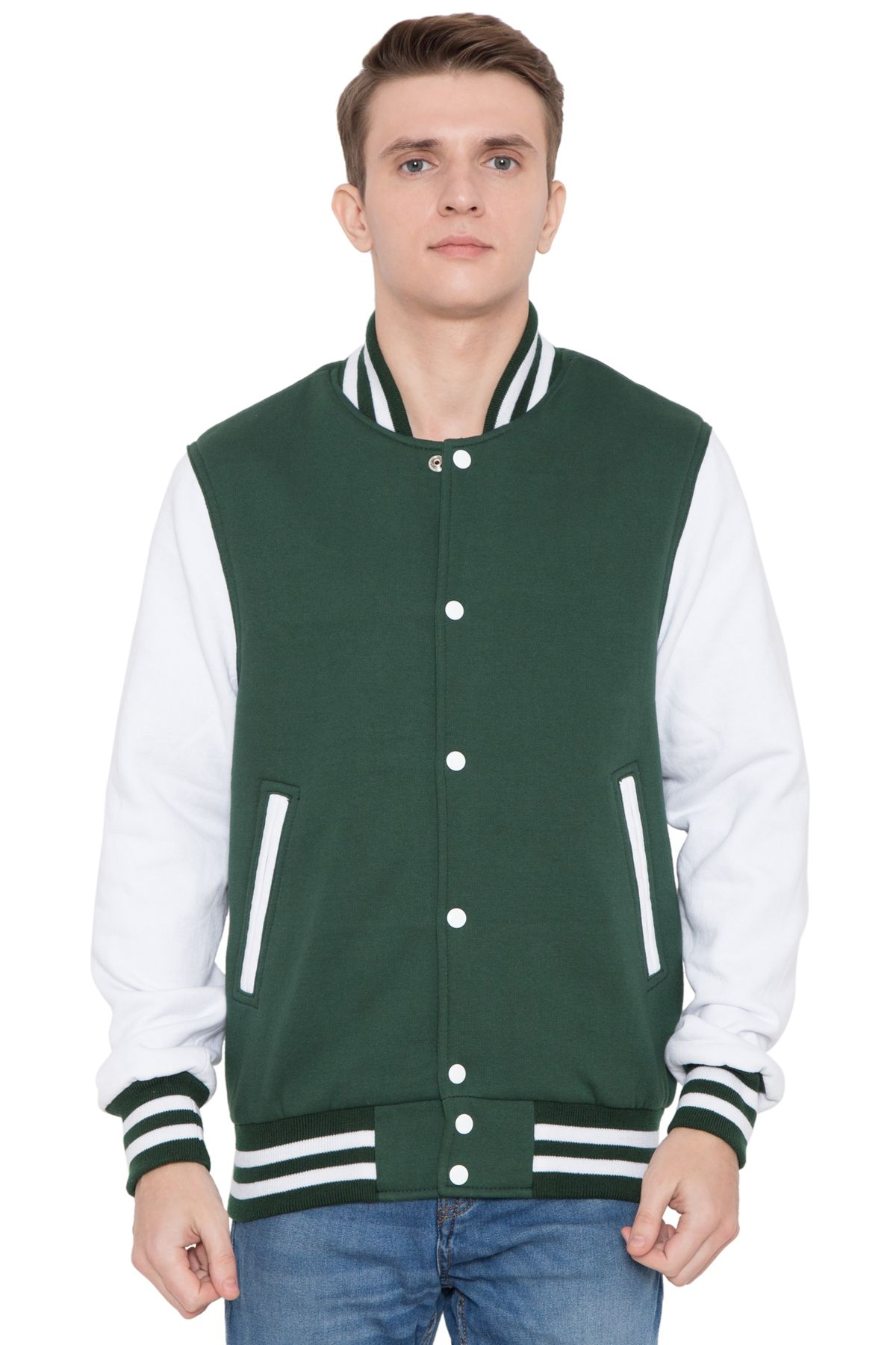 Caliber USA help to create leather sleeves varsity jacket