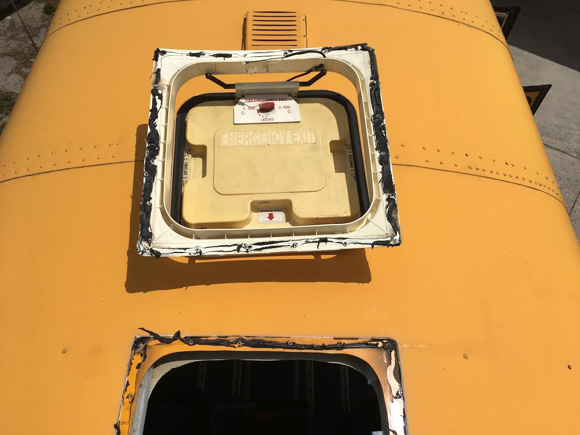Roof Hatch Opening Fill Options School Bus Conversion Resources Roof Hatch Roof Leak Repair School Bus Conversion