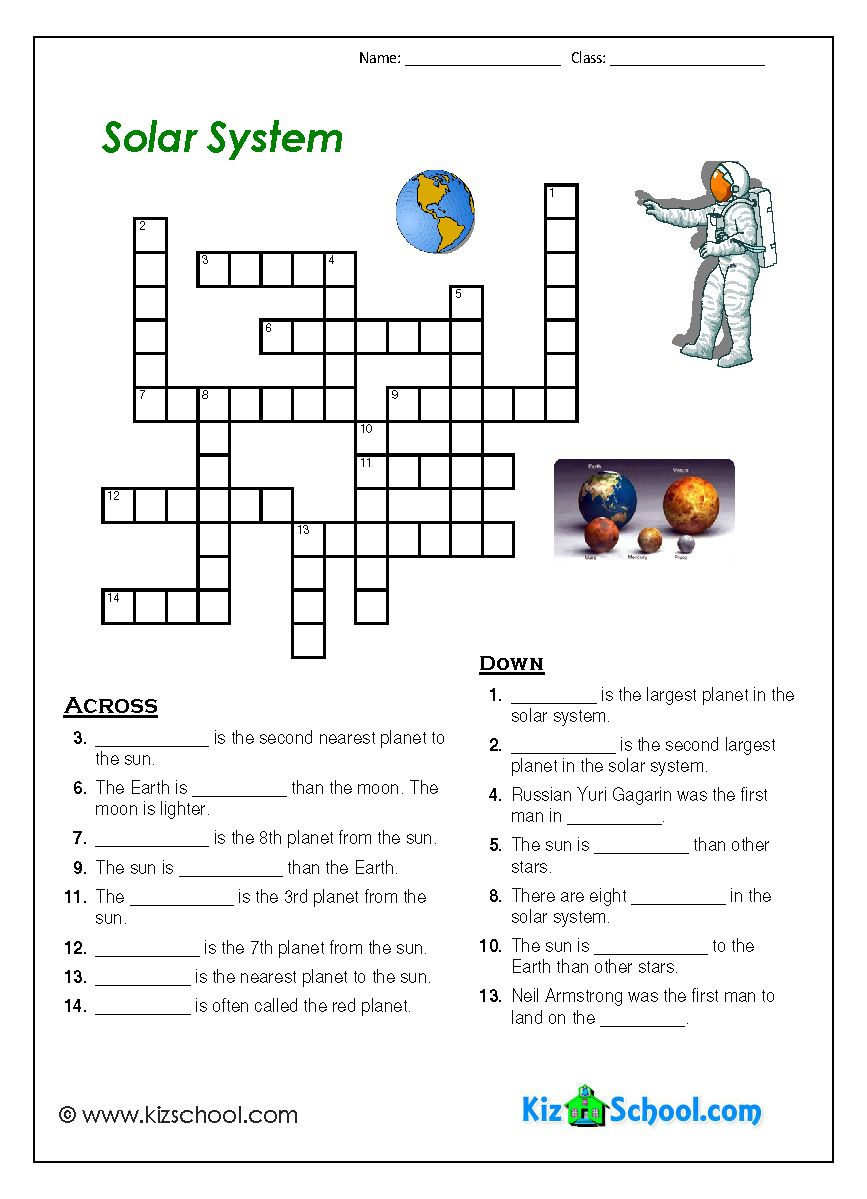 Primaryleap.co.uk - Science worksheet - Solar System word search