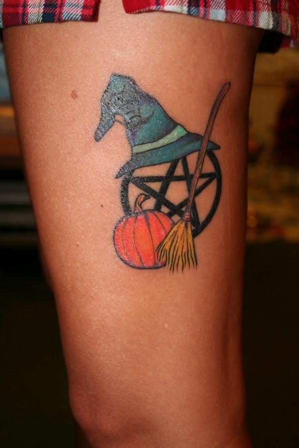 Halloween Inspired Pagan Wiccan Tattoo Tattoos Pinterest