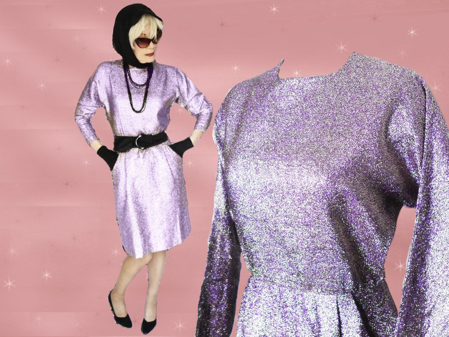 Sparkly pencil dress long sleeve party dress cocktail dress s