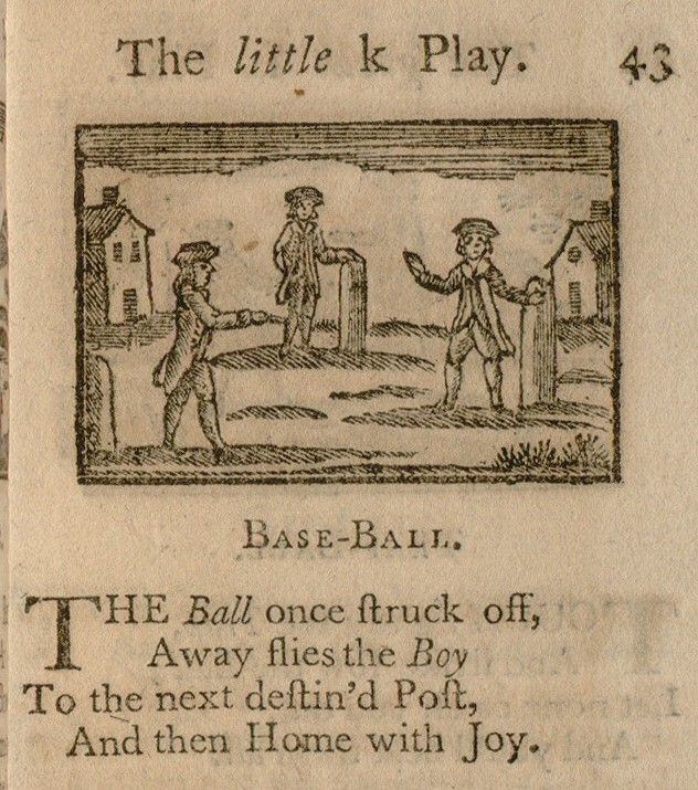 """The First EVER Children's Book published in 1744 (with the longest title ever)- """"A Little Pretty Pocket-Book, intended for the Amusement of Little Master Tommy and Pretty Miss Polly with Two Letters from Jack the Giant Killer"""". Fun fact: The Newbery Medal was named after the author who wrote it: British publisher John Newbery.   Tidbit of Trivia: the book includes a rhyme called """"Base-Ball"""", which is the first known instance of the word baseball in print. Wow."""