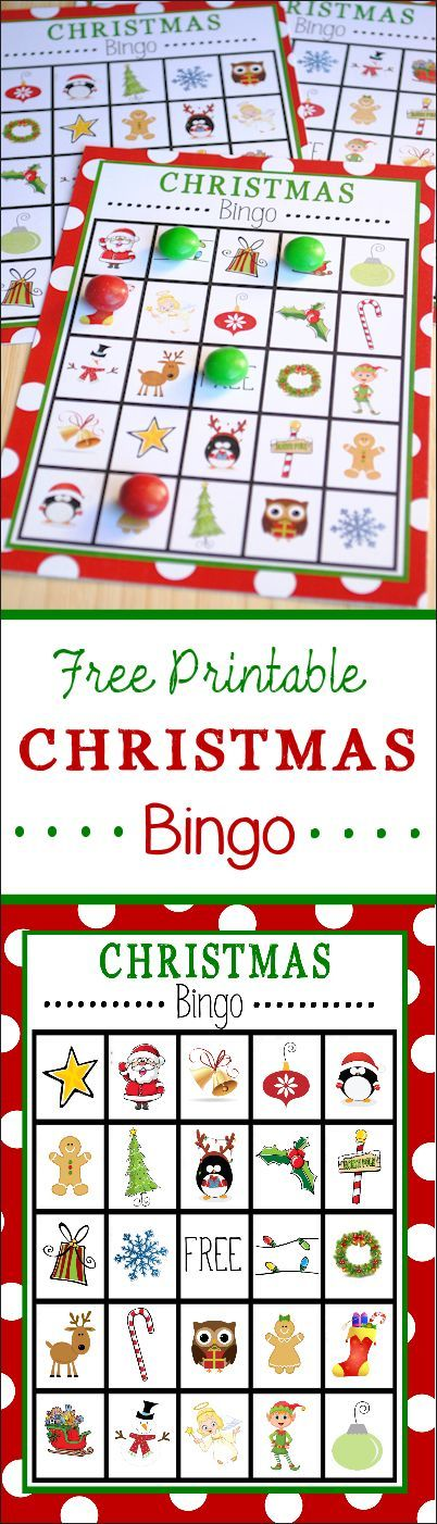 Free Printable Christmas Bingo Game | Vien Katniss 1st | Pinterest ...