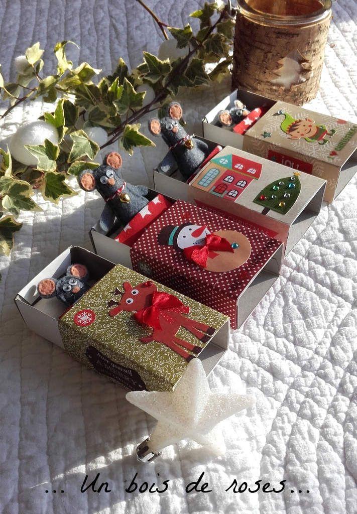 Souries Dans Boite D Allumettes Christmas Crafts Pinterest