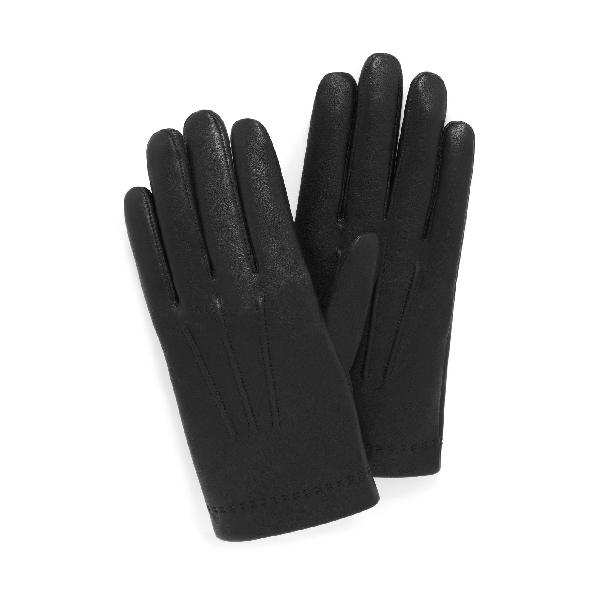 aaf91d53b613d Shop Men s Soft Glovesin Black on Mulberry.com. Soft and supple leather  gloves with