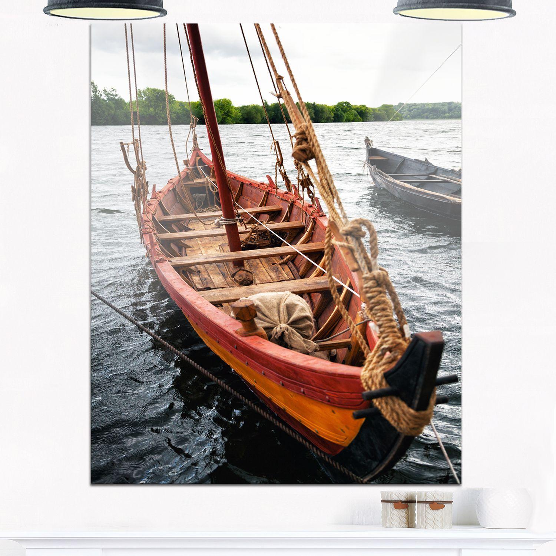 Vintage Wooden Boat - Seashore Glossy