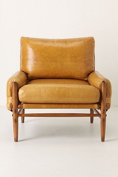 Camel . Leather . Chair   Additional Seating