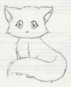 Drawing Of A Cat Kitten Drawing