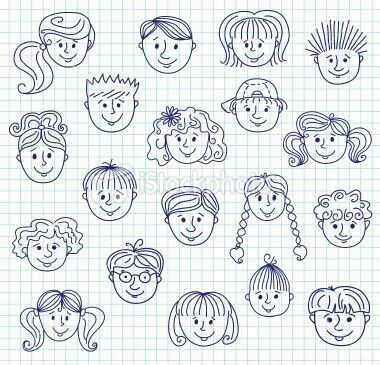 Pin by nicolene on skool pinterest face doodles and for Doodle art faces
