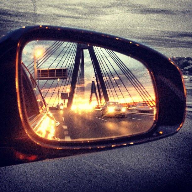 View over the Anzac Bridge in Sydney