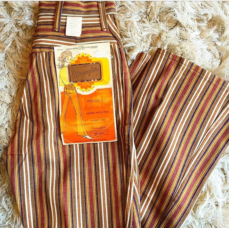 Plus Sized Vintage 1990/'s Style Brown Bellbottoms by Earth Rocks.