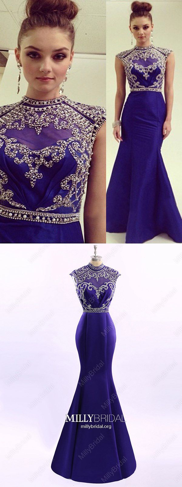 Elegant long prom dresses mermaidroyal blue formal evening dresses