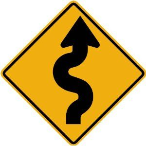 Road Sign Wall Decor Impressive Street & Traffic Sign Wall Decals  Winding Road To The Left Sign Design Ideas